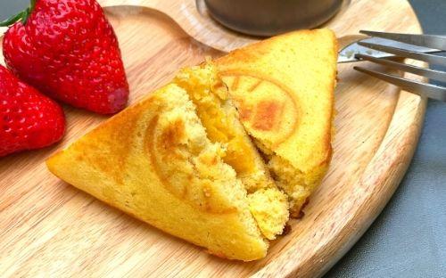 おうちカフェ レシピ:おから蒸しパンde安納芋のホットサンド